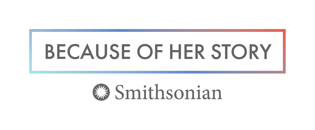 Smithsonian Because Of Her Story logo